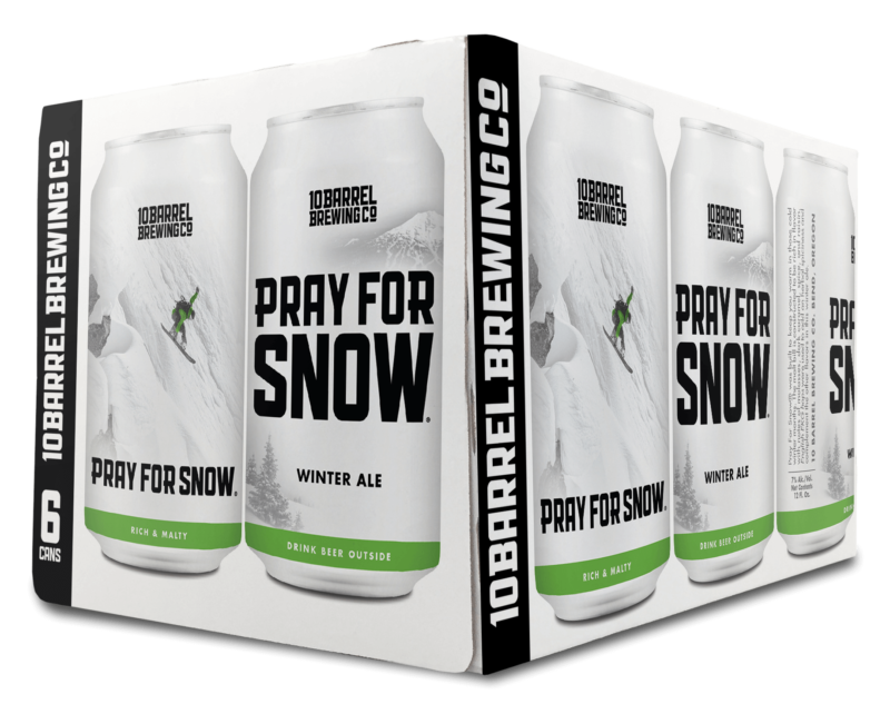 2018 Pray for Snow Winter Ale 6Pack by 10 Barrel Brewing Company, Bend, OR since 2006
