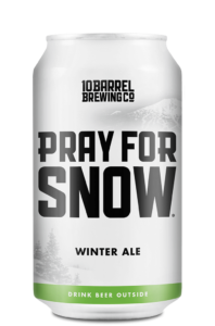 2018 Pray For Snow Winter Ale 12oz Can by 10 Barrel Brewing Company, Bend, OR since 2006