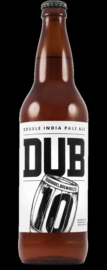 DUB Double IPA 22oz by 10 Barrel Brewing Company, Bend Oregon since 2006