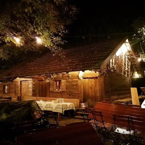 European Beer Star welcoming dinner held in this little cozy shack!