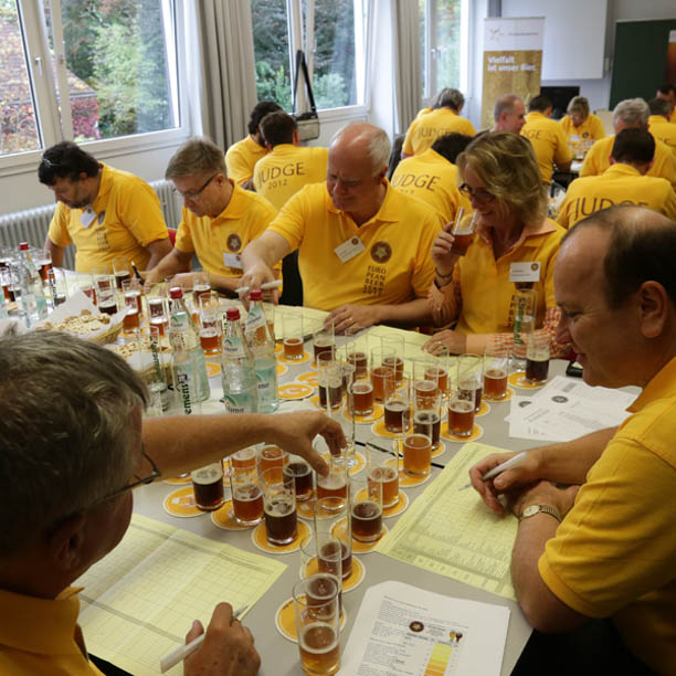 Beer judging in Germany.