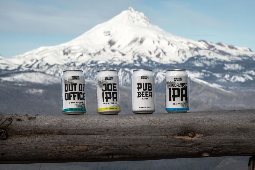 Can Rebranding, 10 Barrel Brewing Company, Bend, Oregon since 2006