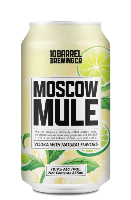 Moscow Mule with real Vodka by 10 Barrel Brewing Company, Bend, OR since 2006