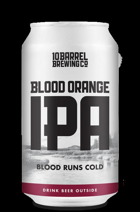Blood Runs Cold, Blood Orange IPA - 10 Barrel Brewing Company, Bend, OR since 2006